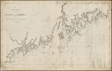 New England, Maine and Canada Map By William Norman