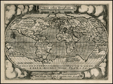 World and World Map By Abraham Ortelius / Philippe Galle