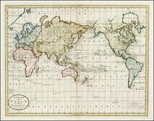 World and World Map By Mathew Carey
