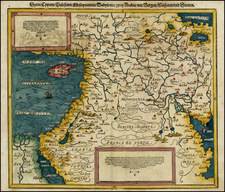 Balearic Islands, Middle East, Holy Land and Turkey & Asia Minor Map By Sebastian Münster