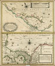 Central America Map By John Senex