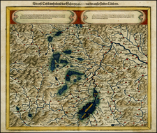 Switzerland Map By Sebastian Münster