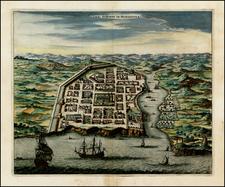 Caribbean Map By John Ogilby