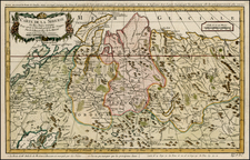 Europe, Russia, Asia, Central Asia & Caucasus and Russia in Asia Map By Jacques Nicolas Bellin