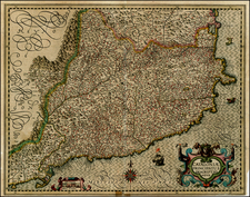 Spain Map By Jodocus Hondius