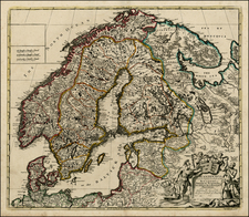 Baltic Countries and Scandinavia Map By John Senex