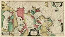 Europe and Mediterranean Map By Frederick De Wit / Louis Renard
