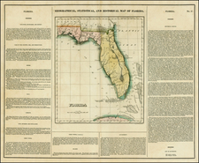 Florida and Southeast Map By Henry Charles Carey  &  Isaac Lea