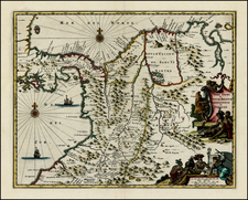 Central America and South America Map By John Ogilby