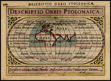 World and World Map By Petrus Bertius
