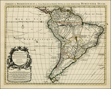 South America Map By Johannes Covens  &  Cornelis Mortier