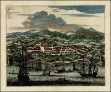 South America and Brazil Map By John Ogilby