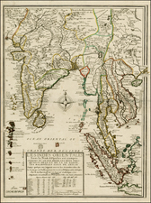 China, India, Southeast Asia and Other Islands Map By Nicolas de Fer