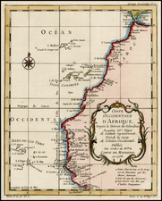 North Africa and West Africa Map By Jacques Nicolas Bellin