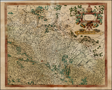 France and Germany Map By  Gerard Mercator