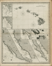 Hawaii, Baja California, Hawaii and California Map By Charles Wilson / John William Norie