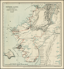 Alaska Map By Royal Geographical Society