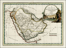 Middle East Map By Giovanni Maria Cassini