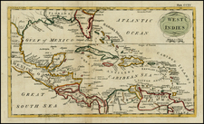 Florida, South, Southeast, Mexico and Caribbean Map By Andrew Bell