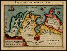 North Africa Map By Abraham Ortelius / Johannes Baptista Vrients