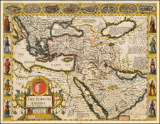 Russia, Ukraine, Turkey, Mediterranean, Middle East and Turkey & Asia Minor Map By John Speed