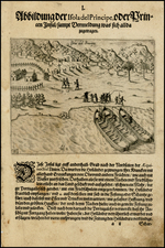 West Africa and African Islands, including Madagascar Map By Theodor De Bry