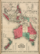 Southeast Asia, Philippines, Australia and New Zealand Map By Alvin Jewett Johnson