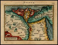 Egypt Map By Abraham Ortelius / Johannes Baptista Vrients