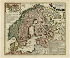 Scandinavia Map By Jean Janvier / Jean-Baptiste Nolin