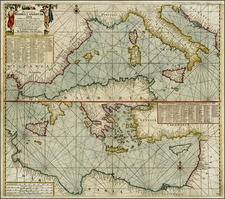 Italy, Spain, Greece, Turkey, Mediterranean and Balearic Islands Map By Gerard Van Keulen