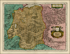 Switzerland, France and Italy Map By Willem Janszoon Blaeu