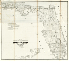 Florida Map By U.S. Surveyor General