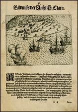Brazil Map By Theodor De Bry - Olivier Van Noort