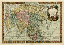 Asia and Asia Map By Louis Charles Desnos / Guillaume Danet