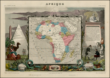 Africa and Africa Map By Victor Levasseur