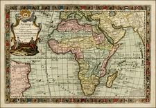 Africa and Africa Map By Louis Charles Desnos / Guillaume Danet