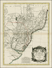 South America and Paraguay & Bolivia Map By Rigobert Bonne / Jean Lattre