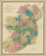 Ireland Map By Alexander Keith Johnston