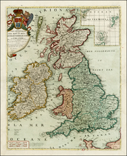 British Isles Map By Jean-Baptiste Nolin