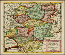 Austria and Balkans Map By Didier Robert de Vaugondy