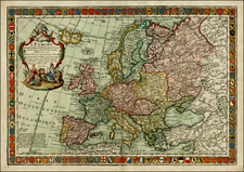 Europe and Europe Map By Louis Charles Desnos / Guillaume Danet