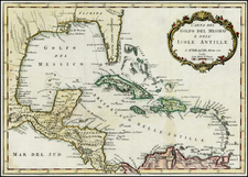 Florida, Caribbean and Central America Map By Jacques Nicolas Bellin