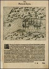 South America Map By Theodor De Bry / Olivier Van Noort