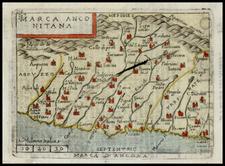 Italy Map By Abraham Ortelius / Pietro Marchetti