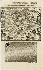 Russia, Romania and Balkans Map By Sebastian Munster