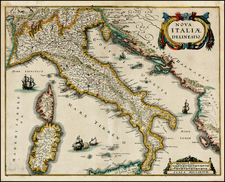 Italy Map By Matthaus Merian