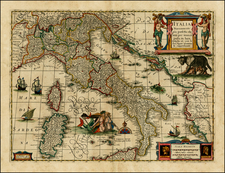 Italy and Other Islands Map By Jan Jansson