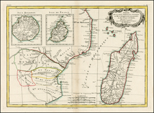 East Africa and African Islands, including Madagascar Map By Rigobert Bonne / Jean Lattre