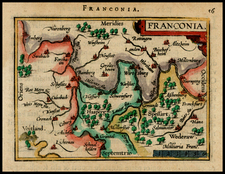 Germany Map By Abraham Ortelius / Johannes Baptista Vrients