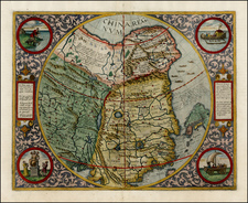 China, Japan, Korea and India Map By Cornelis de Jode